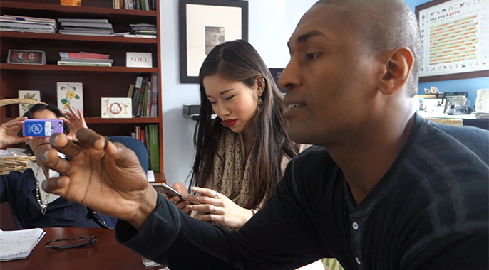 "An L.A. Laker, Metta World Peace joined UCLA students in Andy Rice's class on ""Food: A Lens on Environment and Sustainability"" in sampling roasted crickets during a lesson on entomophagy — bug eating."