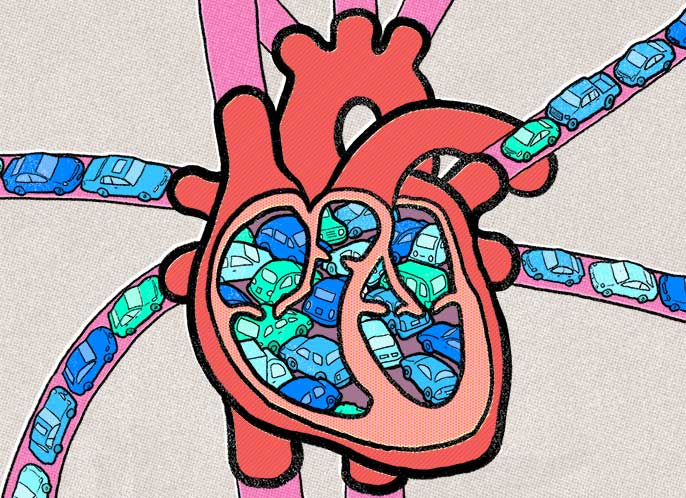 How Traffic Jams Affect Heart Health University Of