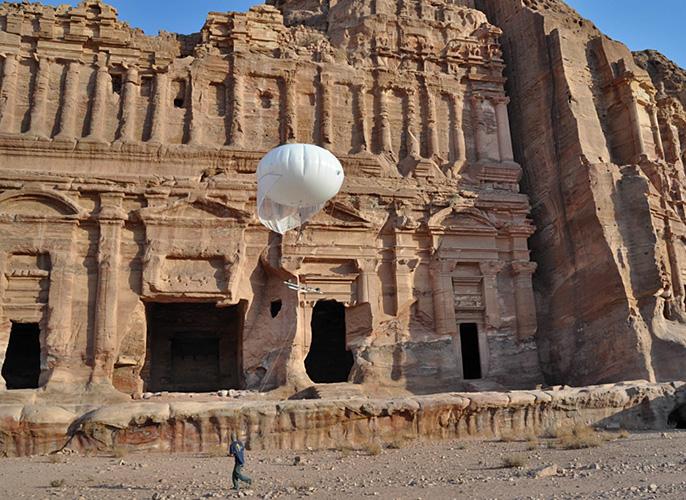 UCSD balloon photography at Petra